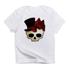 Cute Gothic Skull In Top Hat Infant T-Shirt