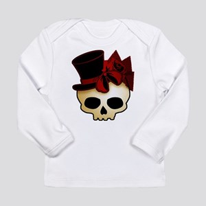 Cute Gothic Skull In Top Hat Long Sleeve Infant T-