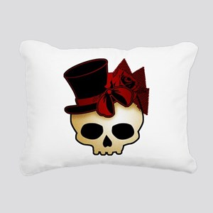 Cute Gothic Skull In Top Hat Rectangular Canvas Pi