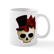 Cute Gothic Skull In Top Hat Mug