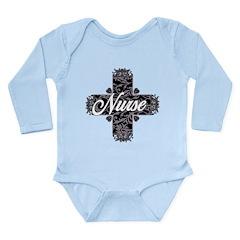 Gothic Nurse Long Sleeve Infant Bodysuit
