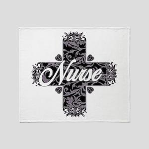 Gothic Nurse Throw Blanket