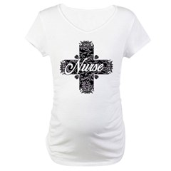Gothic Nurse Maternity T-Shirt