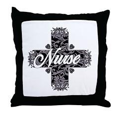 Gothic Nurse Throw Pillow