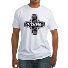 Gothic Nurse Fitted T-Shirt