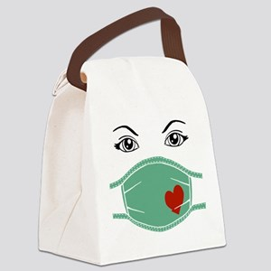 Hospital Mask Canvas Lunch Bag