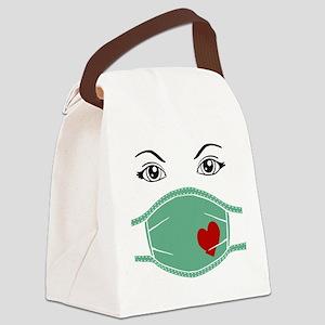 Hospital Mask Canvas Lunch Bag