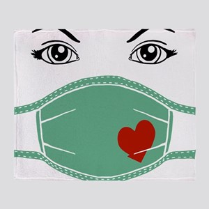 Hospital Mask Throw Blanket