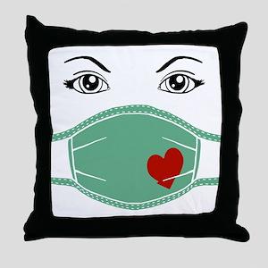 Hospital Mask Throw Pillow