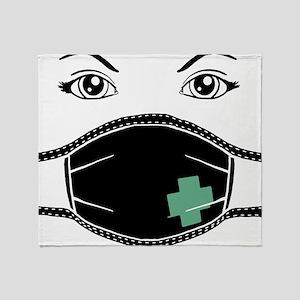 Gothic Medical Mask Throw Blanket