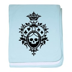 Gothic Skull Crest baby blanket