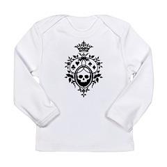 Gothic Skull Crest Long Sleeve Infant T-Shirt