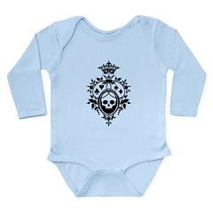 Gothic Skull Crest Long Sleeve Infant Bodysuit