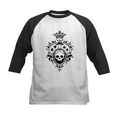 Gothic Skull Crest Kids Baseball Jersey
