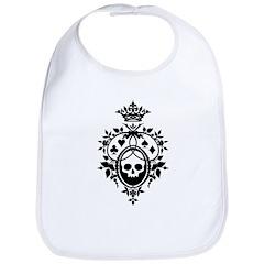 Gothic Skull Crest Bib