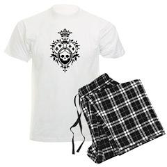 Gothic Skull Crest Men's Light Pajamas