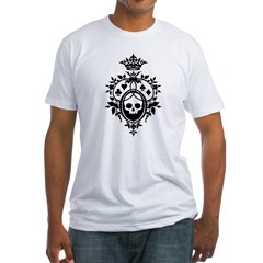 Gothic Skull Crest Fitted T-Shirt