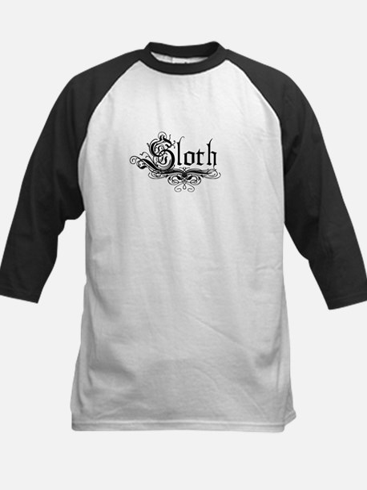 7 Sins Sloth Kids Baseball Jersey