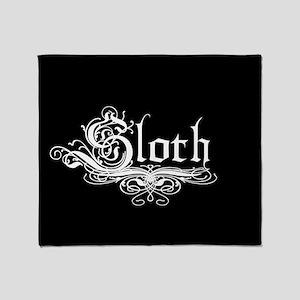 7 Sins Sloth Throw Blanket