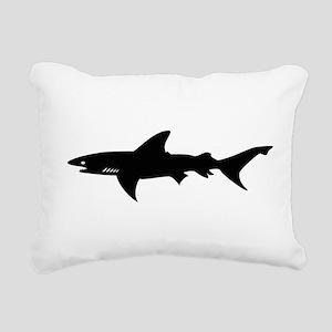 Black Shark Elegant Silhouette Drawing Rectangular