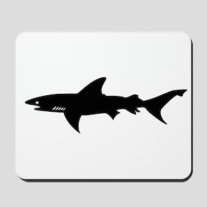 Black Shark Elegant Silhouette Drawing Mousepad