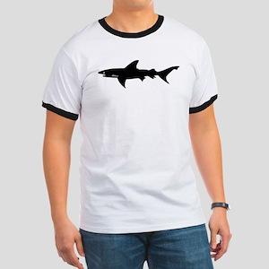 Black Shark Elegant Silhouette Drawing T-Shirt