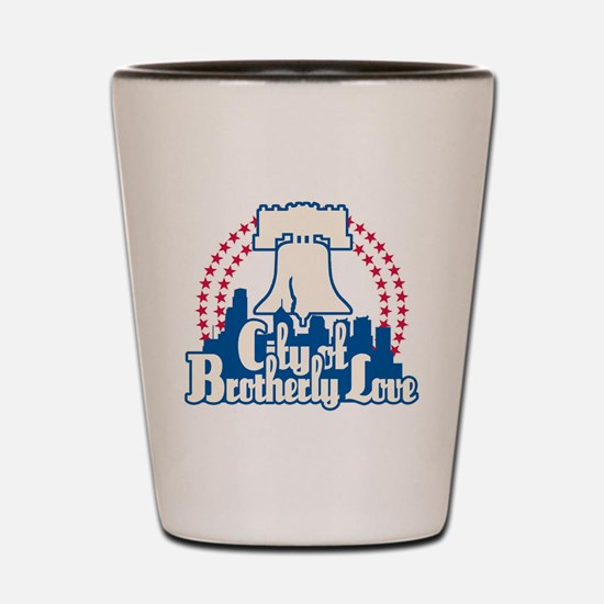 Brotherly Love Shot Glass