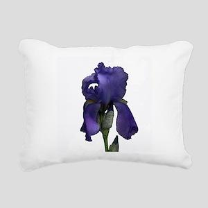Purple Iris Rectangular Canvas Pillow