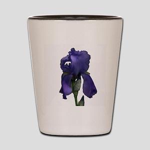 Purple Iris Shot Glass
