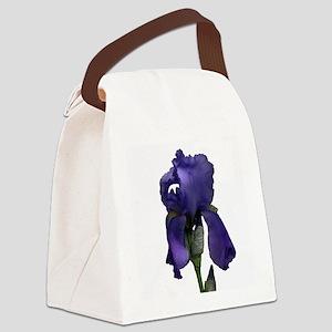 Purple Iris Canvas Lunch Bag