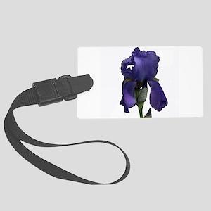 Purple Iris Large Luggage Tag
