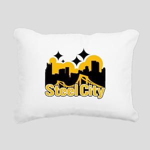 Steel City Rectangular Canvas Pillow