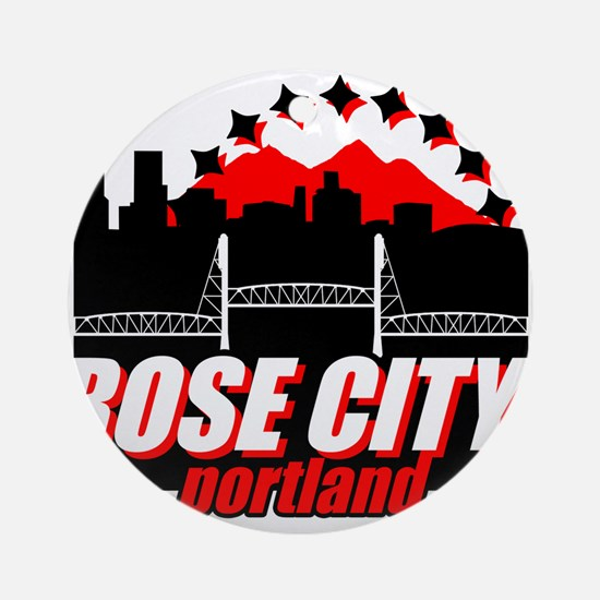 Rose City Ornament (Round)