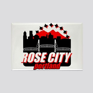Rose City Rectangle Magnet