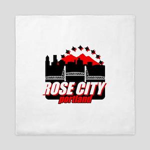 Rose City Queen Duvet