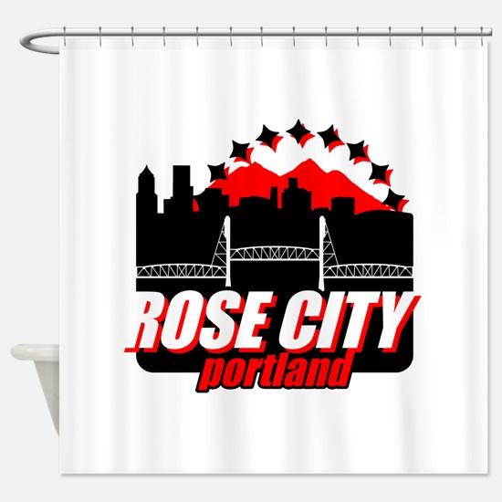 Rose City Shower Curtain