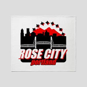 Rose City Throw Blanket