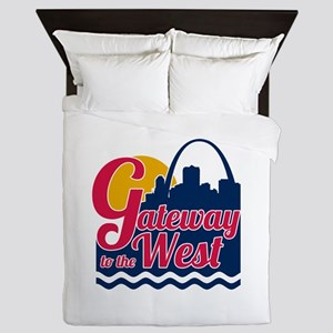 Gateway to the West Queen Duvet