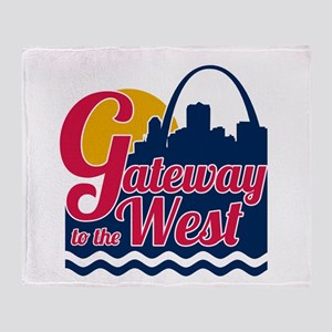 Gateway to the West Throw Blanket