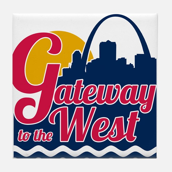 Gateway to the West Tile Coaster