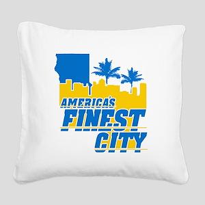 Americas Finest City Square Canvas Pillow
