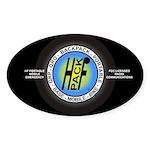 HFPACK Sticker, FCC Licensed Comm (Black Oval)