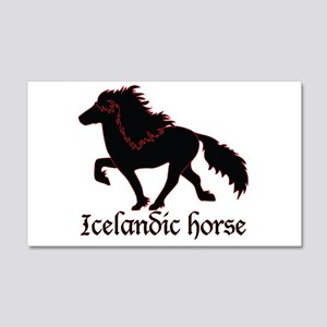 20x12 Black Icelandic Horse Wall Decal