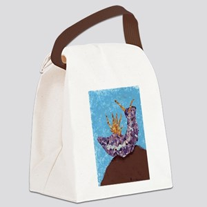 Purple Sea Slug Canvas Lunch Bag