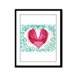Curly Victoria Framed Panel Print