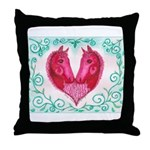 Curly Victoria Throw Pillow