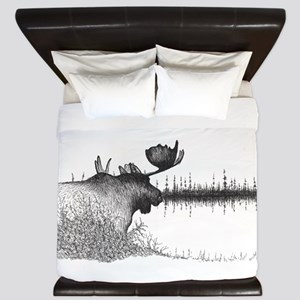 Moose lake King Duvet