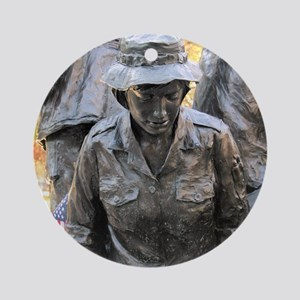 Vietnam Womens Memorial 3 Ornament (Round)