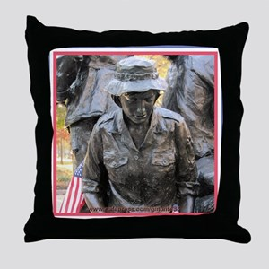 Vietnam Womens Memorial 3 Throw Pillow