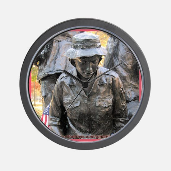 Vietnam Womens Memorial 3 Wall Clock
